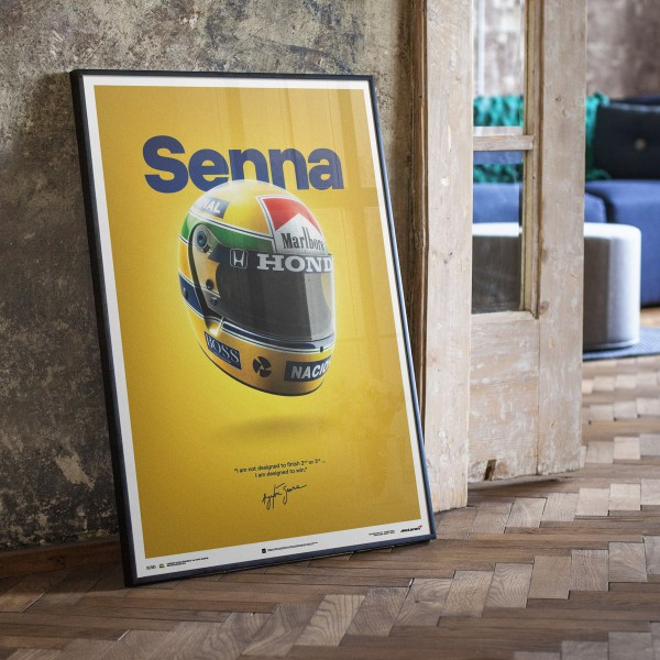 McLaren MP4/4 Ayrton Senna - Senna Poster
