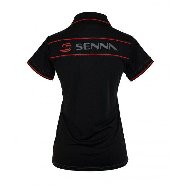 Ayrton Senna Ladies Polo Double S back