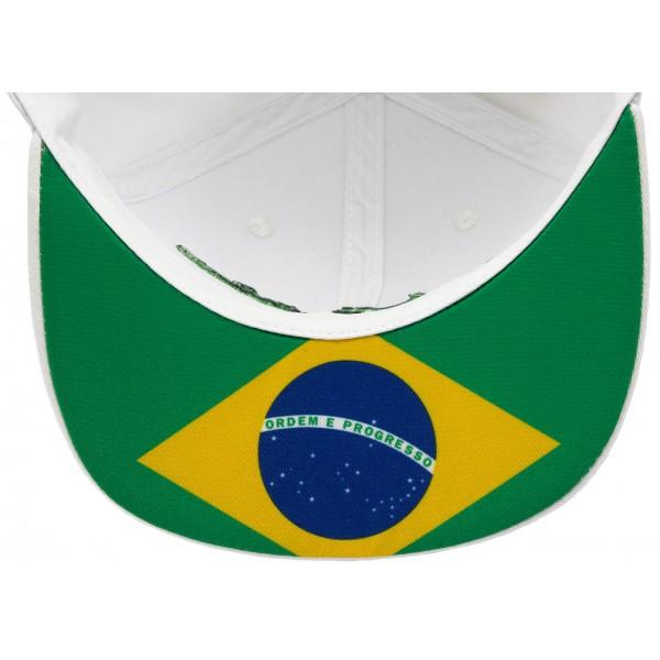 Ayrton Senna Cap Senna Unterschrift Flat Brim weiß