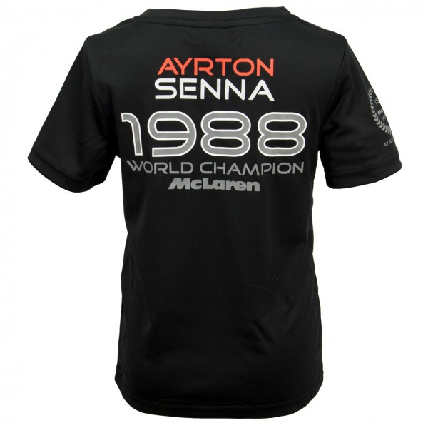 Ayrton Senna Kinder T-Shirt McLaren World Champion 1988