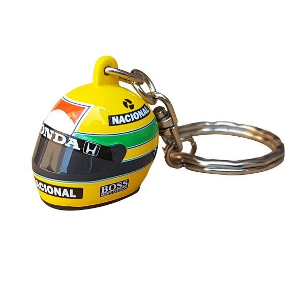 Ayrton Senna 3D Schlüsselanhänger Helm 1988