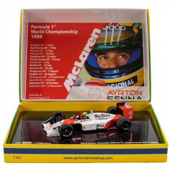 F1 1//43 Formula 1 model car Formula one McLAREN MP4//4 1988 Ayrton Senna +FOTO