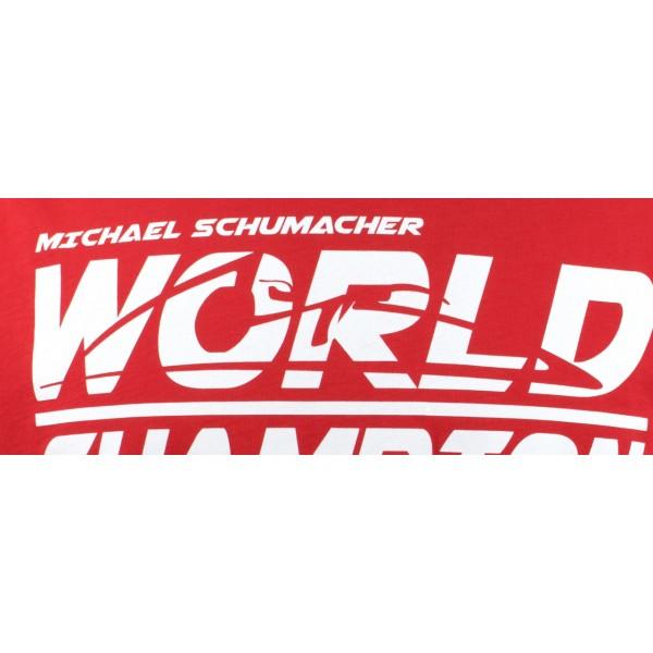 Michael Schumacher T-Shirt World Champion rot
