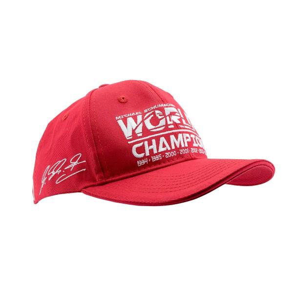 Michael Schumacher Cap Kids World Champion red