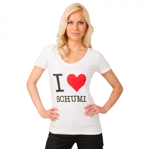 "Damen-T-Shirt ""I love Schumi"""