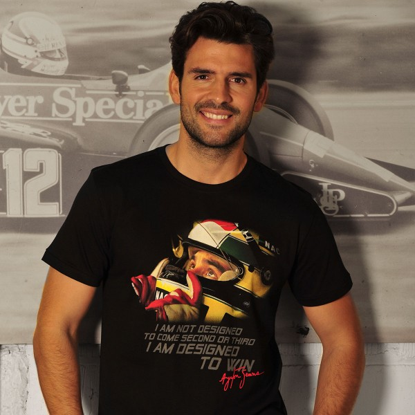 Ayrton Senna T-Shirt Designed To Win Model