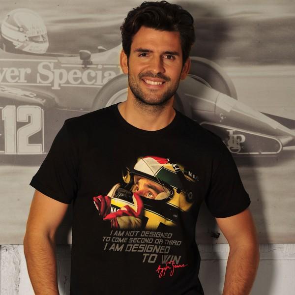 Ayrton Senna T-Shirt Designed To Win Model
