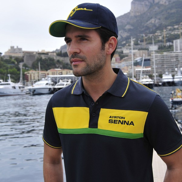 Ayrton Senna Polo-Shirt Racing model