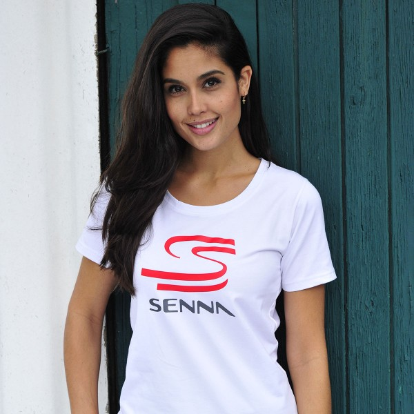 Ayrton Senna T-Shirt Senna Collection Double S model lady