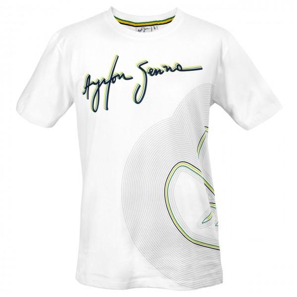 Ayrton Senna T-Shirt Interlagos Tracklines