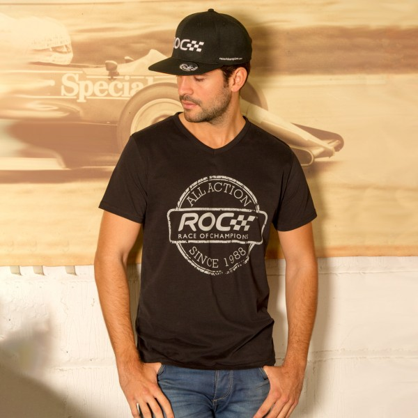V-Neck Shirt ROC Stamp