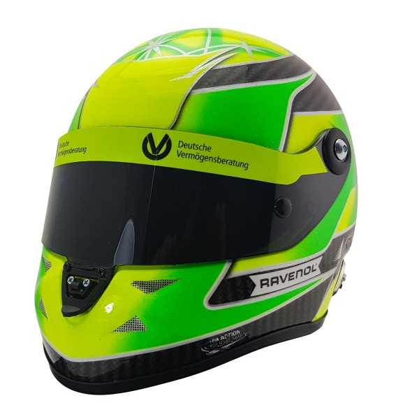 Mini Helm Mick Schumacher 2018 links