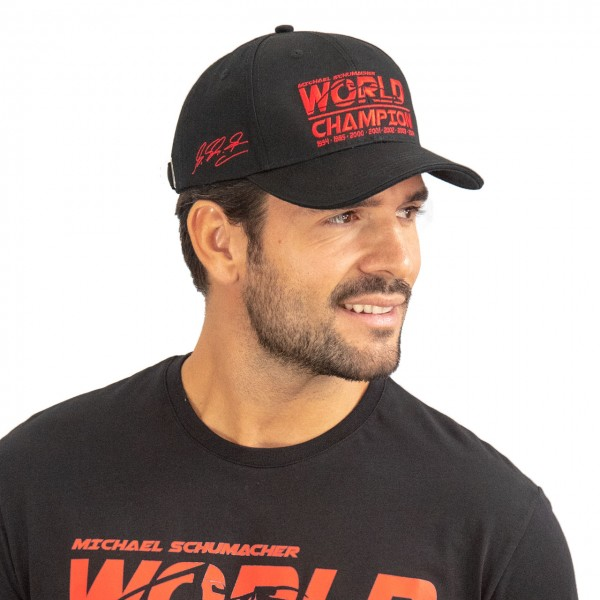 Michael Schumacher Cap World Champion schwarz