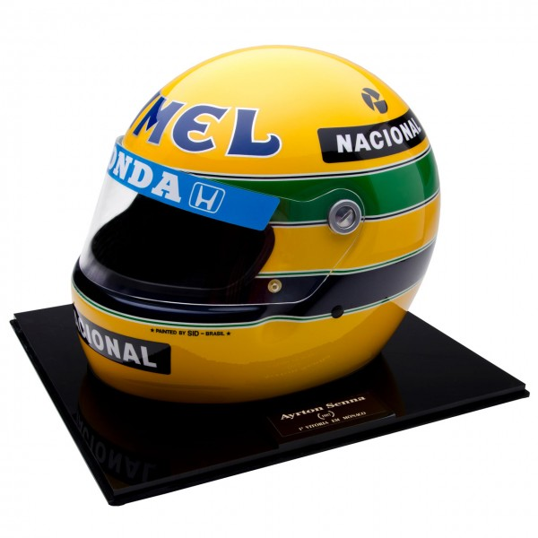 ayrton senna helmet 1987 no 88 1000 scale 1 1. Black Bedroom Furniture Sets. Home Design Ideas