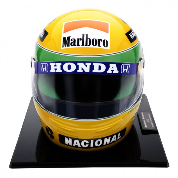 ayrton senna helmet 1990 no 56 1000 scale 1 1. Black Bedroom Furniture Sets. Home Design Ideas