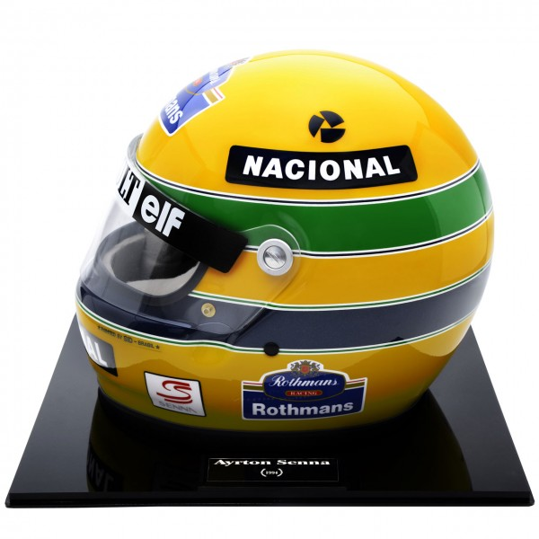 ayrton senna helmet 1994 no 157 1000 scale 1 1. Black Bedroom Furniture Sets. Home Design Ideas