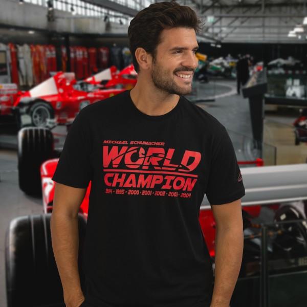 T-Shirt Michael Schumacher Campione del mondo Nera