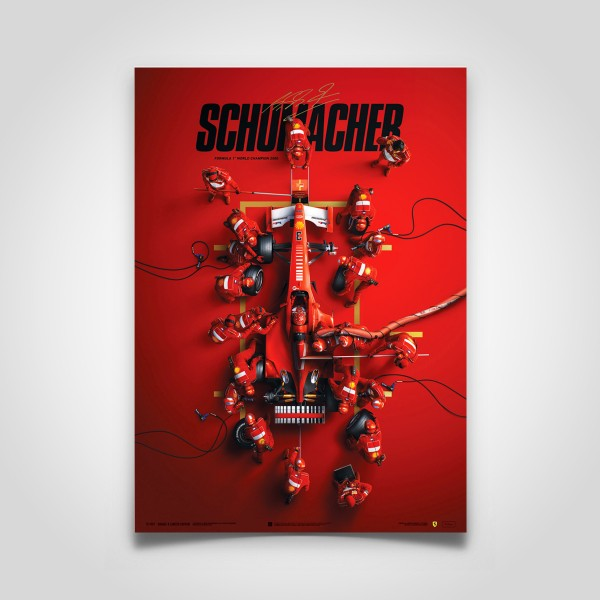 Ferrari F1-2000 - Michael Schumacher - Pit Stop - U&L Edition Poster