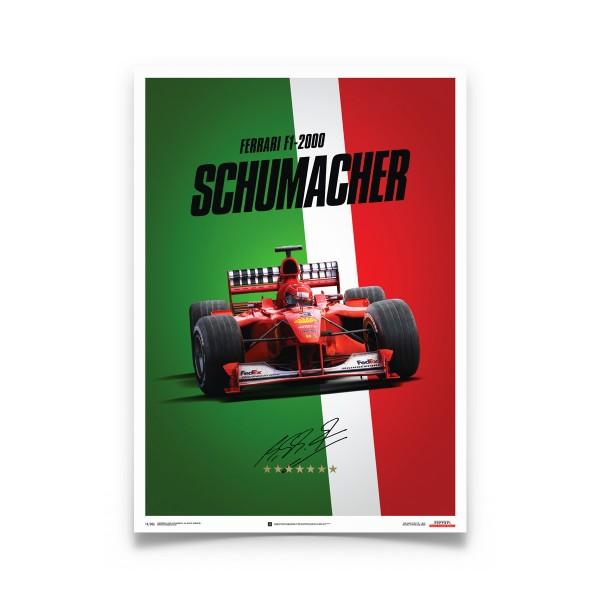 Ferrari F1-2000 - Michael Schumacher - Italy - Suzuka GP - Poster
