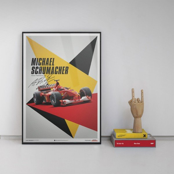 Ferrari F1-2000 - Michael Schumacher - Germany - Suzuka GP - Poster
