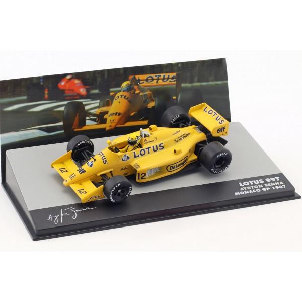 Ayrton Senna Lotus 99T #12 Winner Monaco GP Formel 1 1987 1:43