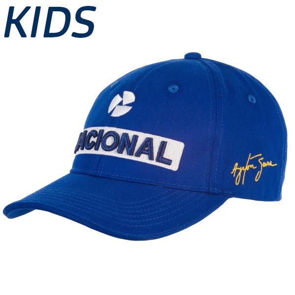Ayrton Senna Boné Nacional Bordado Infantil