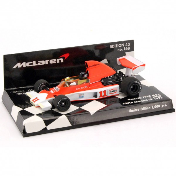 James Hunt McLaren Ford M23 South African GP Formel 1 1976 1/43