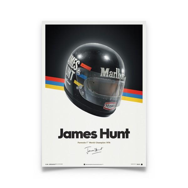 James Hunt - Helm - 1976 - Poster