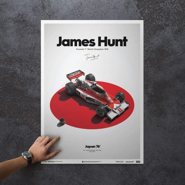 James Hunt - McLaren M23 - Japan - Japan GP - 1976 - Limited Poster