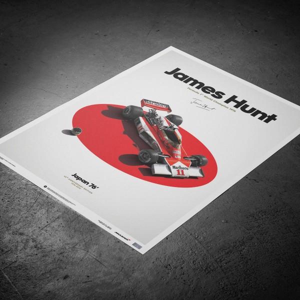 James Hunt - McLaren M23 - Japan - Japanese GP - 1976 - Limited Poster