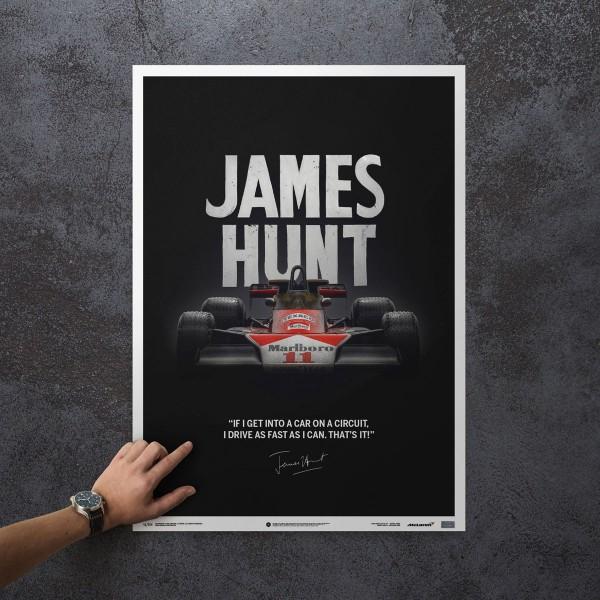 James Hunt - McLaren M23 - Zitat - Japan GP - 1976 - Limited Poster