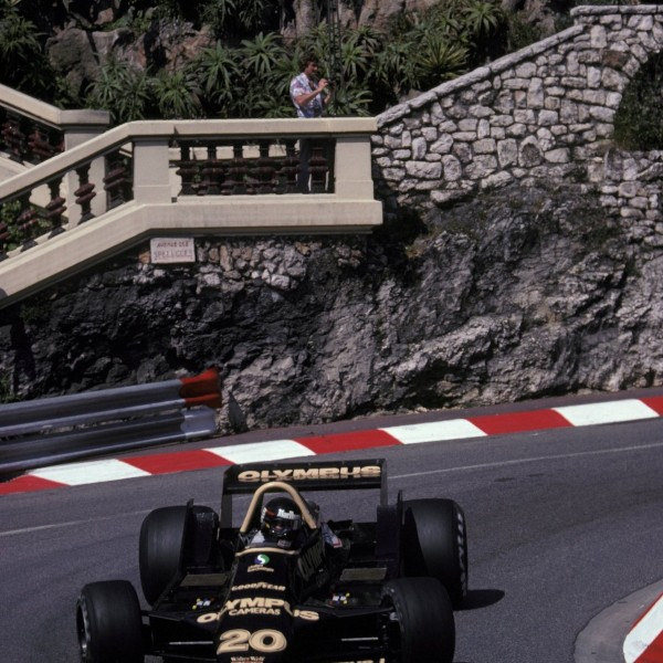 James Hunt in his last ever race in Monaco on May 27, 1979.