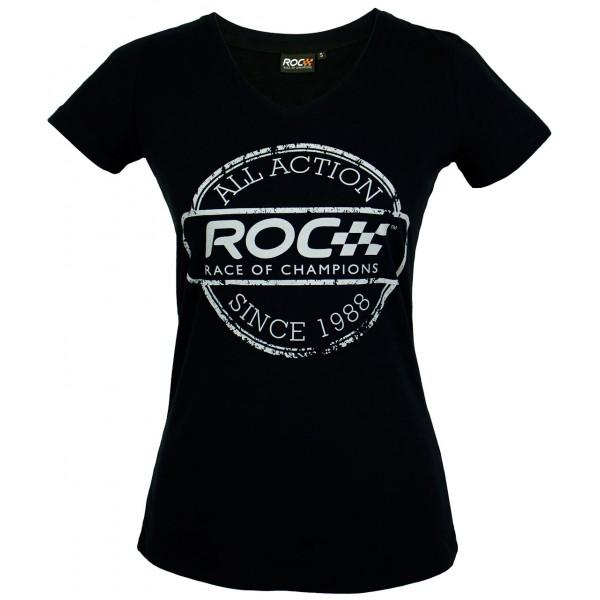LadiesV-Neck Shirt ROC Stamp