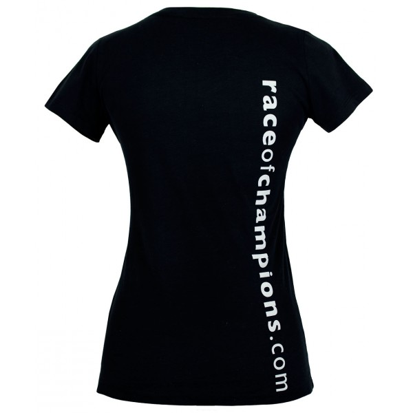 LadiesV-Neck Shirt ROC Stamp back
