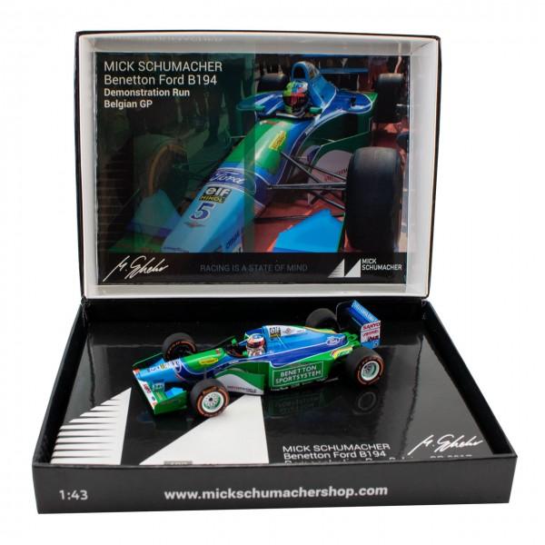 Mick Schumacher Benetton Benetton Ford B194 Giro di Prova Belgio GP 2017 1/43