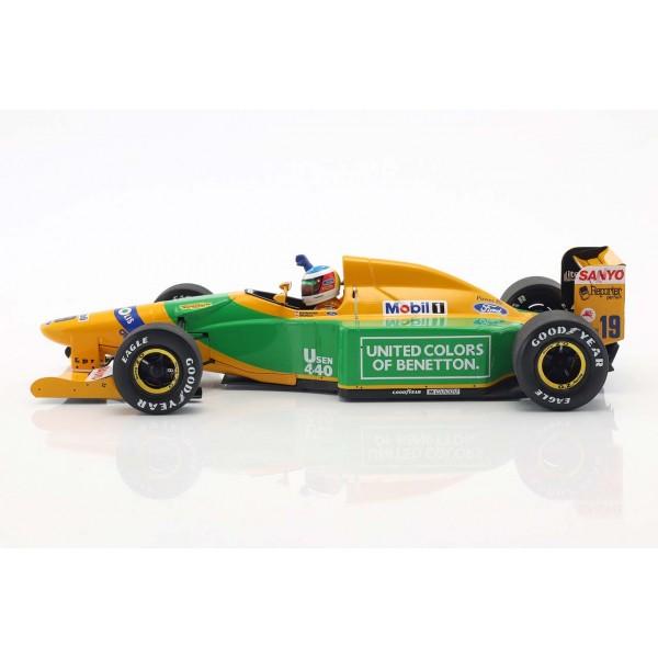 Michael Schumacher Benetton B192 #19 4th Monaco GP Formel 1 1992 1/18