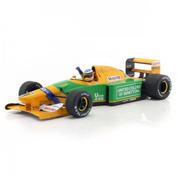 Michael Schumacher Benetton B192 #19 4th Monaco GP Formel 1 1992 1:18