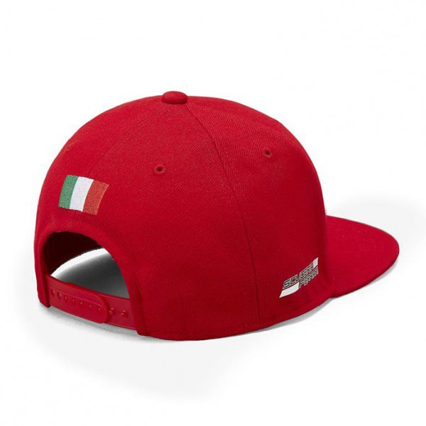 Scuderia Ferrari Cappello Flat Brim rosso