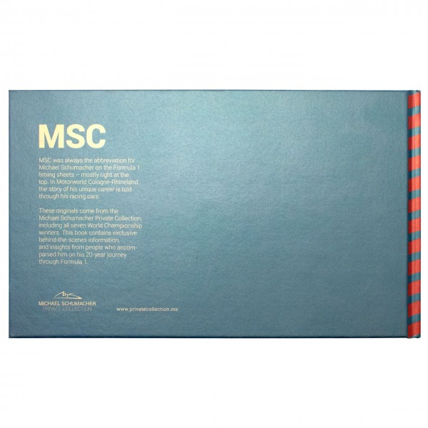 Michael Schumacher MSC book Blue back