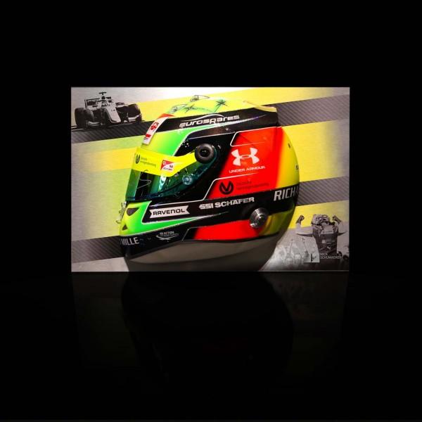 Mural del Medio casco de Mick Schumacher 2019
