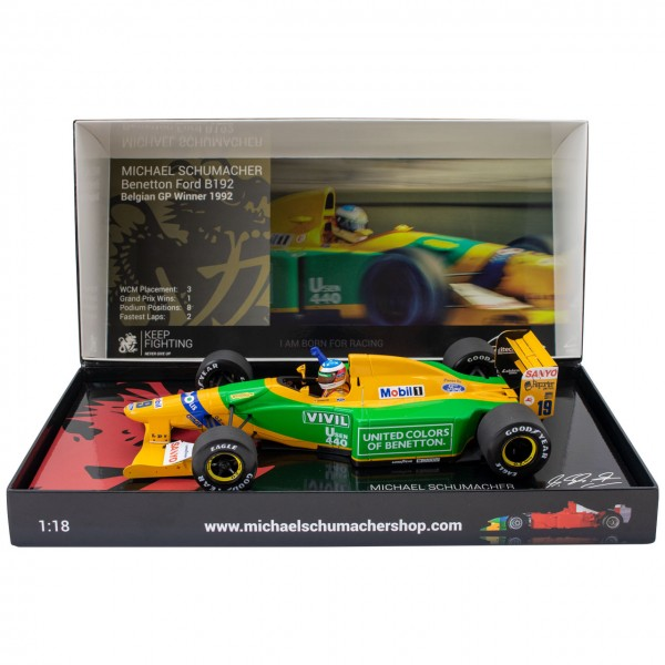 Michael Schumacher Benetton Ford B192 Belgian GP Winner 1992 1:18