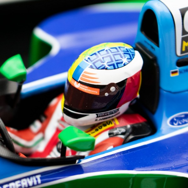 Mick Schumacher Benetton Ford B194 Giro di prova Belgio GP 2017 1/18