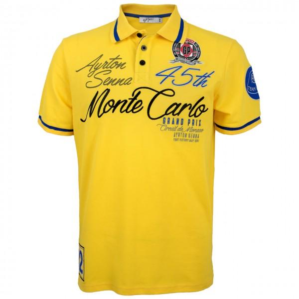 Ayrton Senna Poloshirt Monaco Champion front
