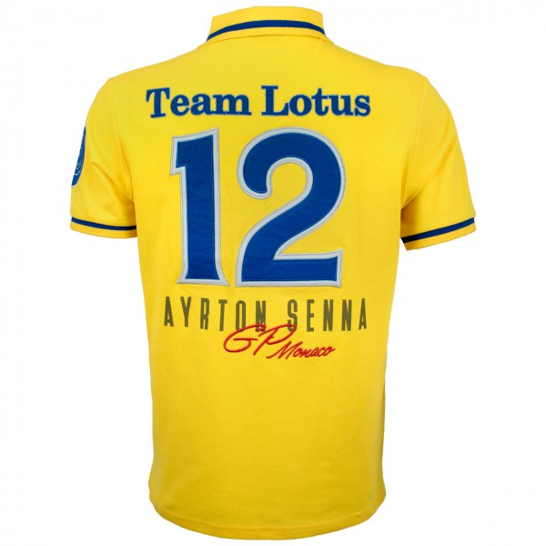 Ayrton Senna Poloshirt Monaco Champion back