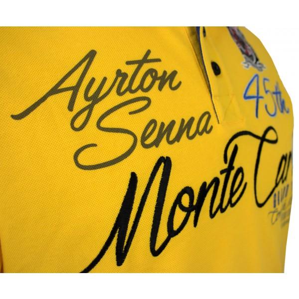 Ayrton Senna Poloshirt Monaco Champion detail 1