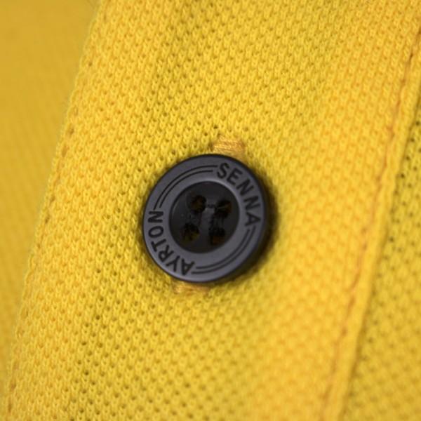 Ayrton Senna Poloshirt Monaco Champion button