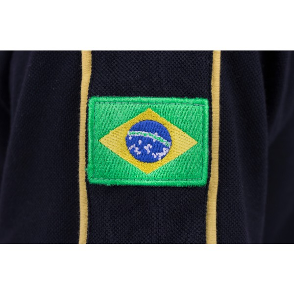 Poloshirt Ayrton Senna Classic Team Lotus detail sleeve