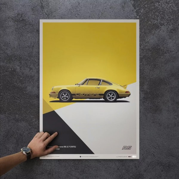 Poster Porsche 911 RS - yellow