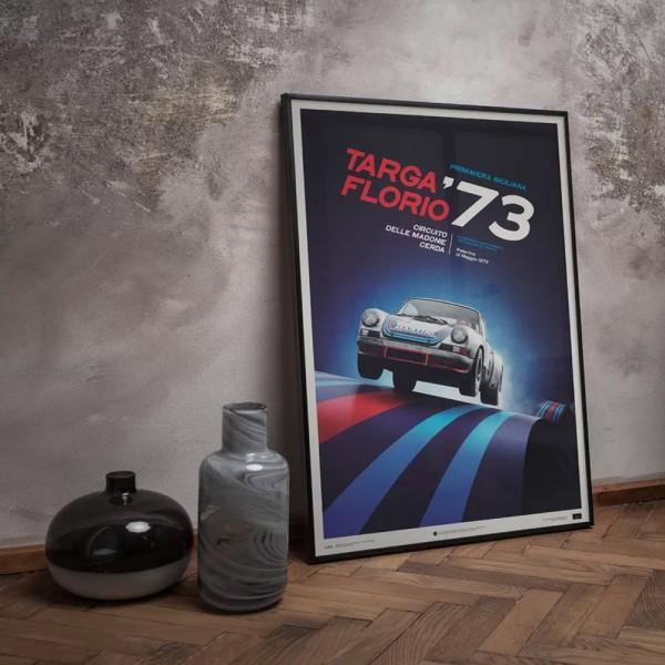 Poster Porsche 911 RSR - Martini - Targa Florio - 1973