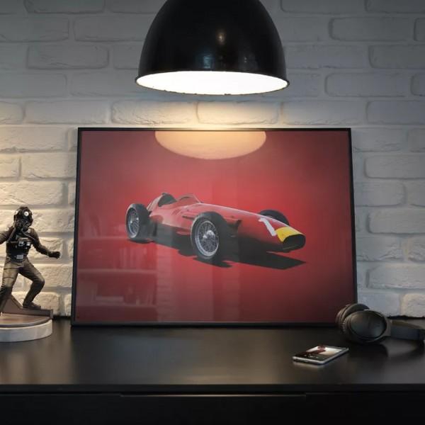 Poster Maserati 250F - Juan Manuel Fangio 1957
